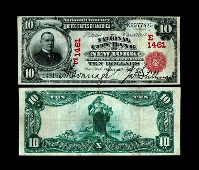 New York NY  $10 1902 Red Seal Fr 614 The National City Bank Ch. # (E)1461