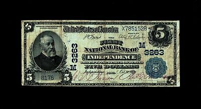 Independence, IA - $5 1902 Plain Back Fr. 598 The First NB Ch. # (M)3263