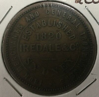 Iredale & Co 1820 1d token (R294) VF (1055)