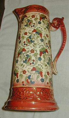 Old Haynes Baltimore Tall Ceramic Pitcher, Jug, Nouveau, Chesapeake Art Pottery