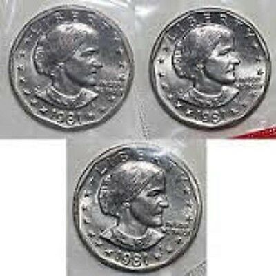 1981 P.D.S.- SUSAN B ANTHONY  Uncirculated in  Mint Cellophone