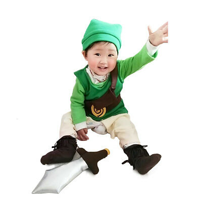 The Legend of Zelda Baby Toddler Link Outfit Cosplay Costume for Babies Infants