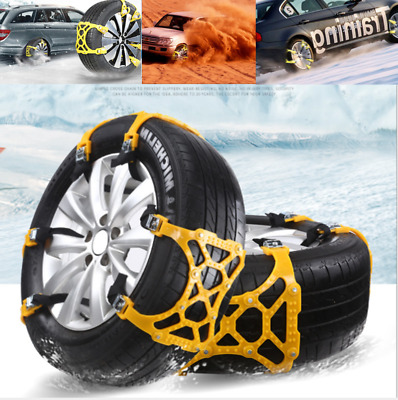 1pc Car Tire Anti-skid Chain Thickened Beef Tendon Wheel Chain for Snow Mud Road