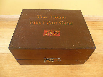 Old Very Nice Boots, 'the Home First Aid Case, Old Timber First Aid Box,