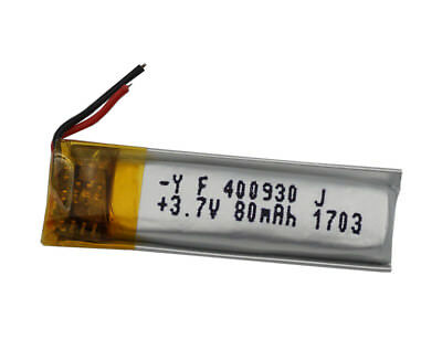 3.7V 80 mAh Polymer Li battery For GPS bluetooth headset pen Sat Nav  400930