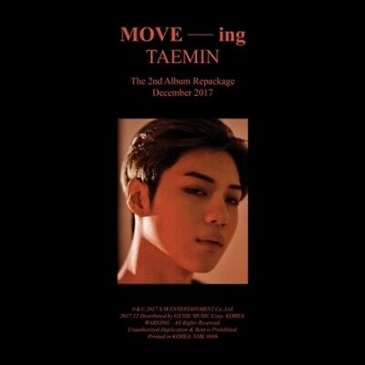 Shinee Taemin-[Move-ing]2nd Repackage Album CD+64p Booklet+PhotoCard+Gift K-POP