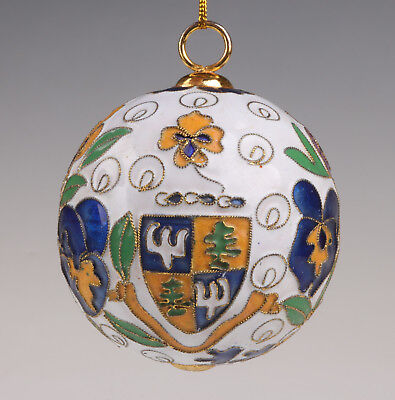 Cloisonne Figurine Pendant Christma Decoration Ball Only One Old Handmade