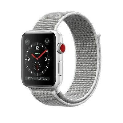 Apple Watch Gen 3 Ser. 3 Cell 42mm Silver - Seashell Sport MQK52LL/A