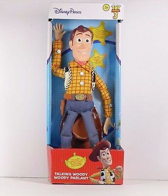 "Toy Story 3 Talking Woody Pull String Doll Disney Parks Exclusive 16"" New"