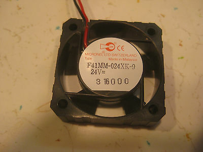 Micronel, F41Mm-024Xk-9, Fan, 40Mm, 24Vdc
