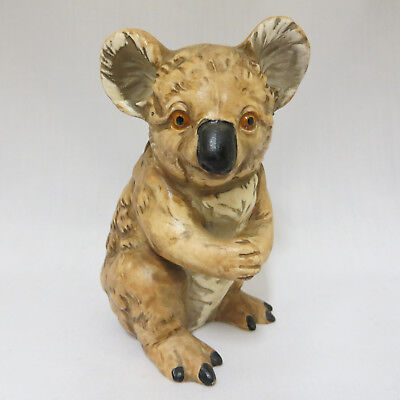 Koala Porcelain Figurine Statue UCTCI Made in Japan Collectible Animal