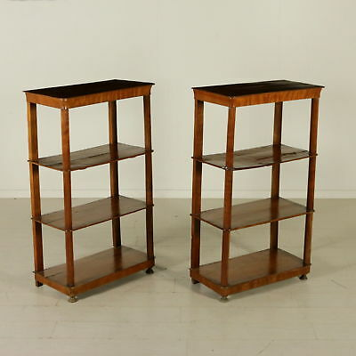 Pair of Bookcases Restoration Style Manufactured in Italy First Half of 1800
