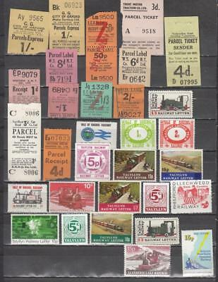 Large Lot Of Parcel & Letter Stamps 31 In Total A Mix Of Unmounted Mint Full Gum