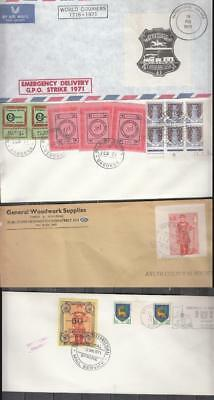 1971 Postal Strike Stamps Lot CC 6 Stamps In Total All Unmounted Mint Full Gum (