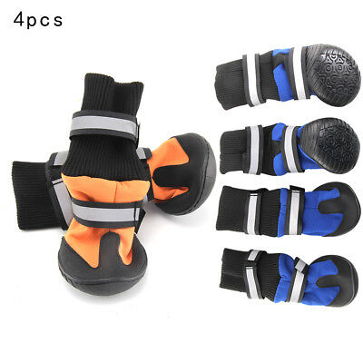 4PCS Pet Dog Puppy Anti Slip Protective Rain Boots Booties Waterproof Shoes M-XL