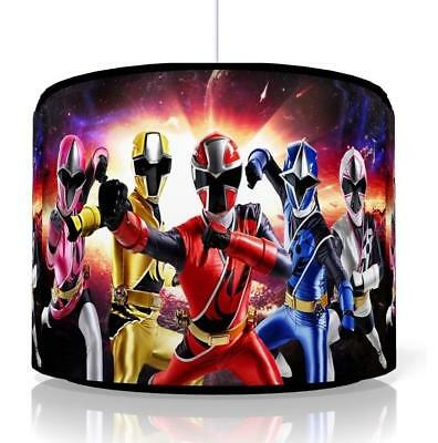 "POWER RANGERS LIGHT SHADE 11""  KIDS ROOM matches duvet set GAMING  FREE P&P"