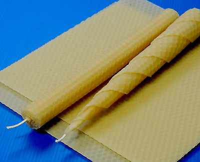Kit for making natural rolled beeswax candles - plus wicking and instructions