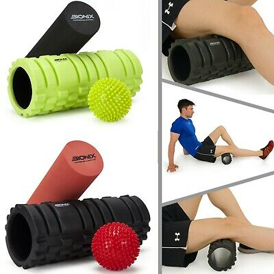 2 in 1 Foam Roller Exercise High Density Trigger Point Grid Physio Massage Ball
