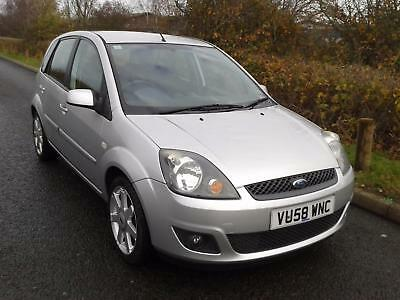 2008 (58) Ford Fiesta 1.4 Zetec Blue, METALLIC SILVER ONLY 64376 MILES FROM NEW.