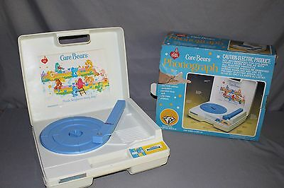 Care Bears Phonograph by Playtime Record Player Vintage