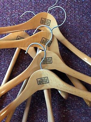 Vintage Antique Wood Hangers Fitwell Birnbaum Germany