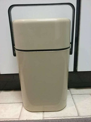 Decor Vintage Byo 2 Bottle Wine Cooler /carrier - Beige- In Excellent Condition