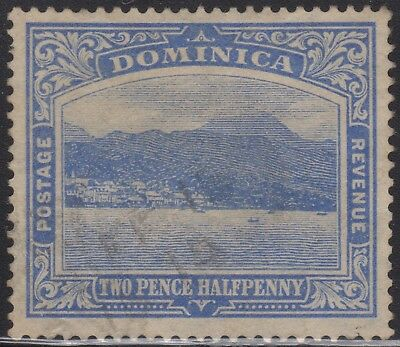 Dominica 1908 2d blue, used