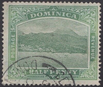Dominica 1908 ½d blue-green, used