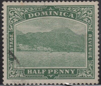 Dominica 1908 ½d deep green, used