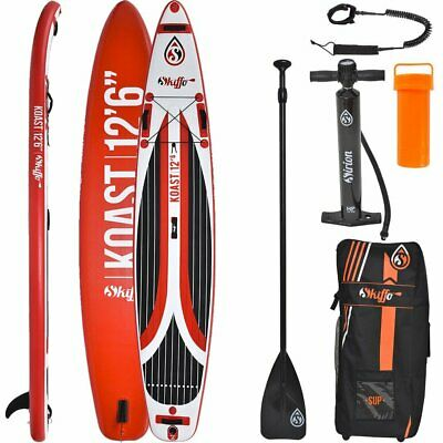 SKIFFO Touring SUP Board Stand Up Paddle Surf-Board aufblasbar Paddel ISUP 381