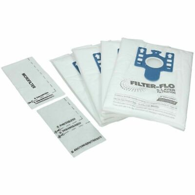 Miele GN Filter-Flo Vacuum Dust Bags for C2 C3 Powerline Ecoline x 4 + 2 Filters