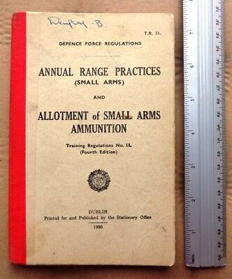 Irish 1950 Annual Range Practices and Allotments of small arms ammunition