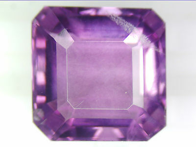 10.38 Ct Natural Purple Fluorite Square Faceted Cut Loose Gemstones 11 X 11 Mm