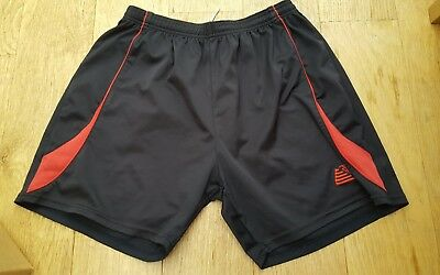 Mens Football Training Shorts, Pendle, Black & Red - Size: 34/36