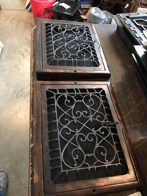 Br 30 2Available Price Separate Antique Swirly Floor To Wall Mount Heating Grate