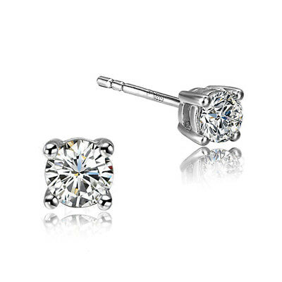 Sterling Silver Earrings With Stone Crystal Jewelry For Women