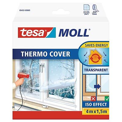 tesamoll Fensterisolierfolie THERMO COVER, Isolierfolie 4,0m x 1,5m