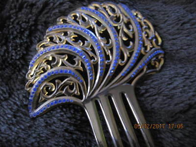 Antique Very Large Embelished Celluloid Hair Comb Guaranteed Authentic C1920's