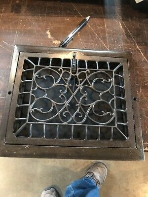 Br 36 Antique Floor To Wall Mount Heating Grate Swirly 10.75 x 12 W