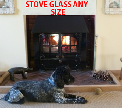 AGA / Coalbrookdale Stove Replacement Glass with FREE Seal/Gasket - All Models