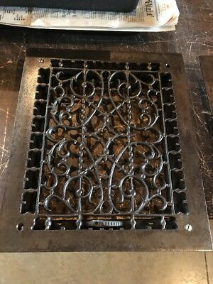 Br 41 Antique Heating Grate No Fins 11.75 X 13.75 Cleaned And Lacquered