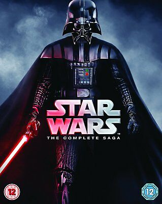 Star Wars - The Complete Saga Blu-ray 2015 9-Disc Set Box Set 6.1 DTS 40+ Hours