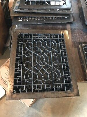 Br 44 Antique Cleaning Lacquered Decorative Heating Great 12 X 14