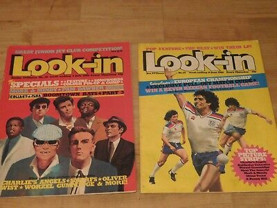 2 x LOOK-IN Magazines 1980  #28 #25 The Specials - The Beat 2 tone ska