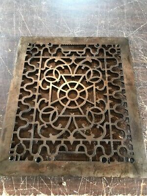 Br 52 antique cast-iron decorative Grate face 11.75 x 13.75