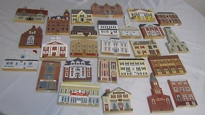 Lot of 26  Cat's Meow Village Houses, Christmas Series, Series Xii