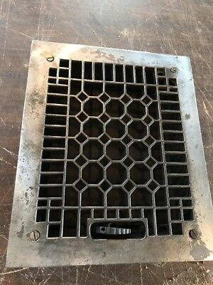 Br 53 Antique Cast-Iron Cleaned And Lacquered Heating Grate 9.75 X 11.75