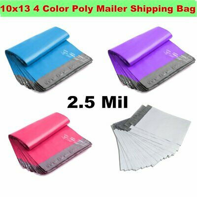 10x13 4 Color Poly Mailer Shipping Envelope Couture Boutique Plastic Bag 2.5 Mil