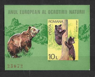 ROMANIA - 1980 Nature Protection Year Imperf & Numbered Mini-Sheet / MS - MNH