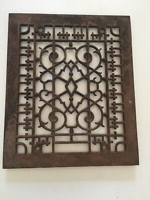Vintage Antique cast iron heating grate grill vent cover register Fits 8 X 10